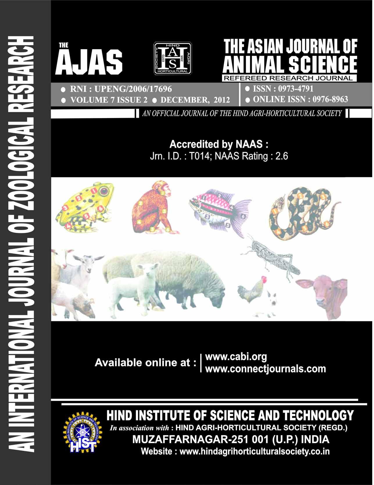 Asian J. Animal Sci.